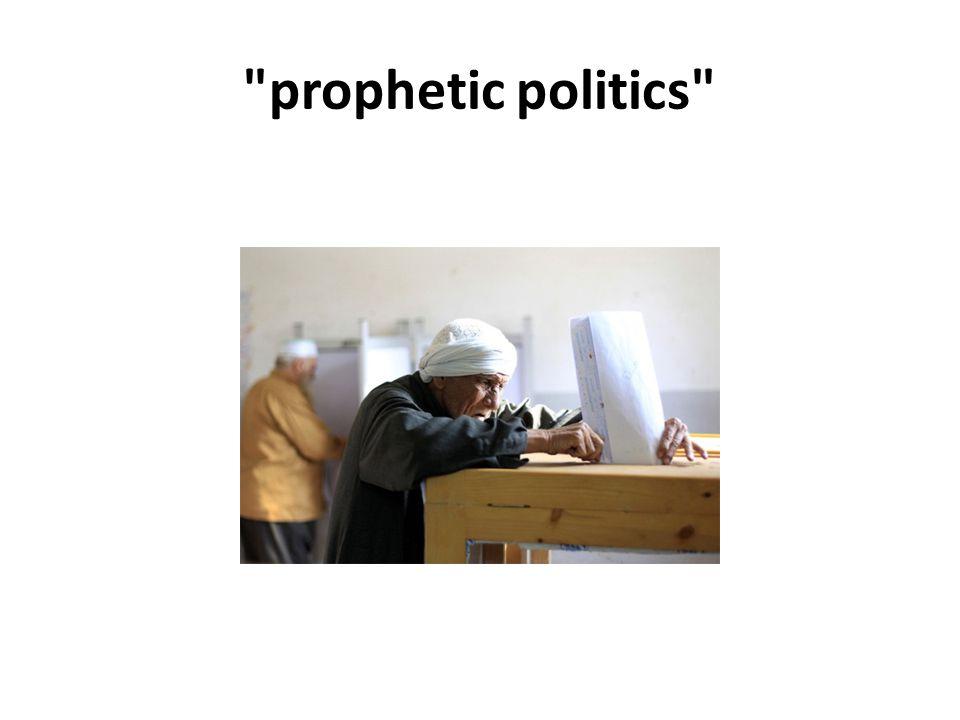 prophetic politics