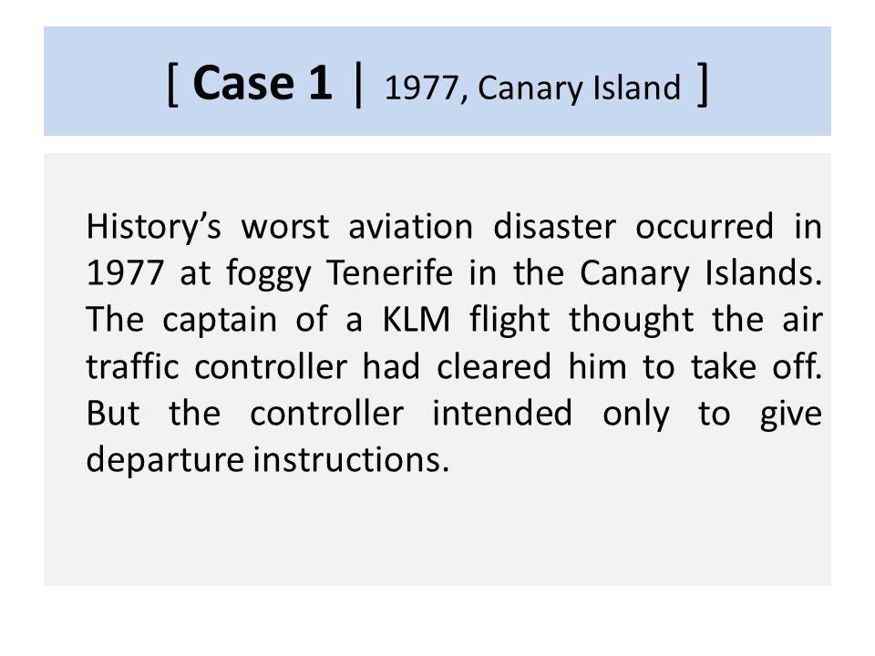 CASE 1 1977, Canary Island