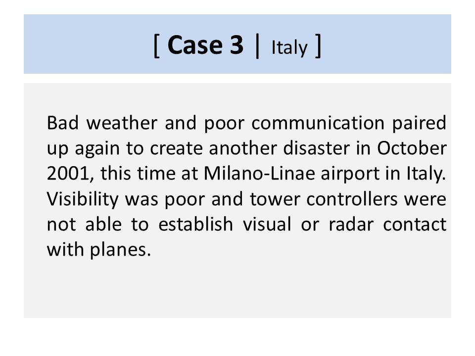 CASE 3 2001, Italy