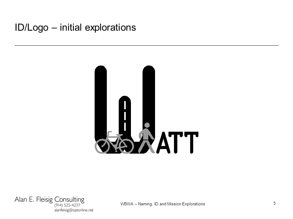 WBWA – Naming, ID and Mission Explorations 5 ID/Logo – initial explorations