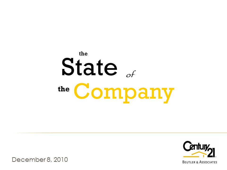 December 8, 2010 the of State Company