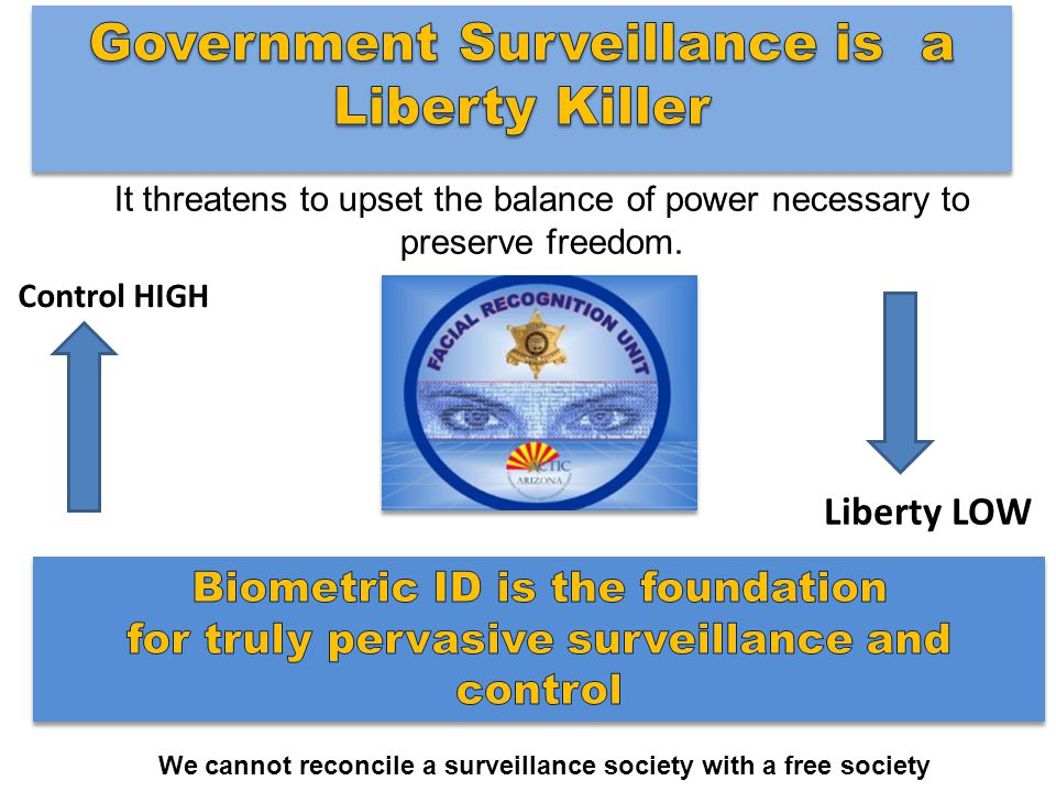 It threatens to upset the balance of power necessary to preserve freedom.