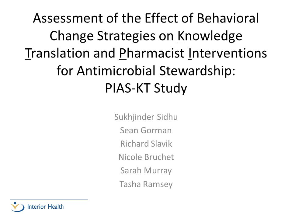 Study Schema Knowledge Intervention PRE phase Behavioral Change Strategies 1.