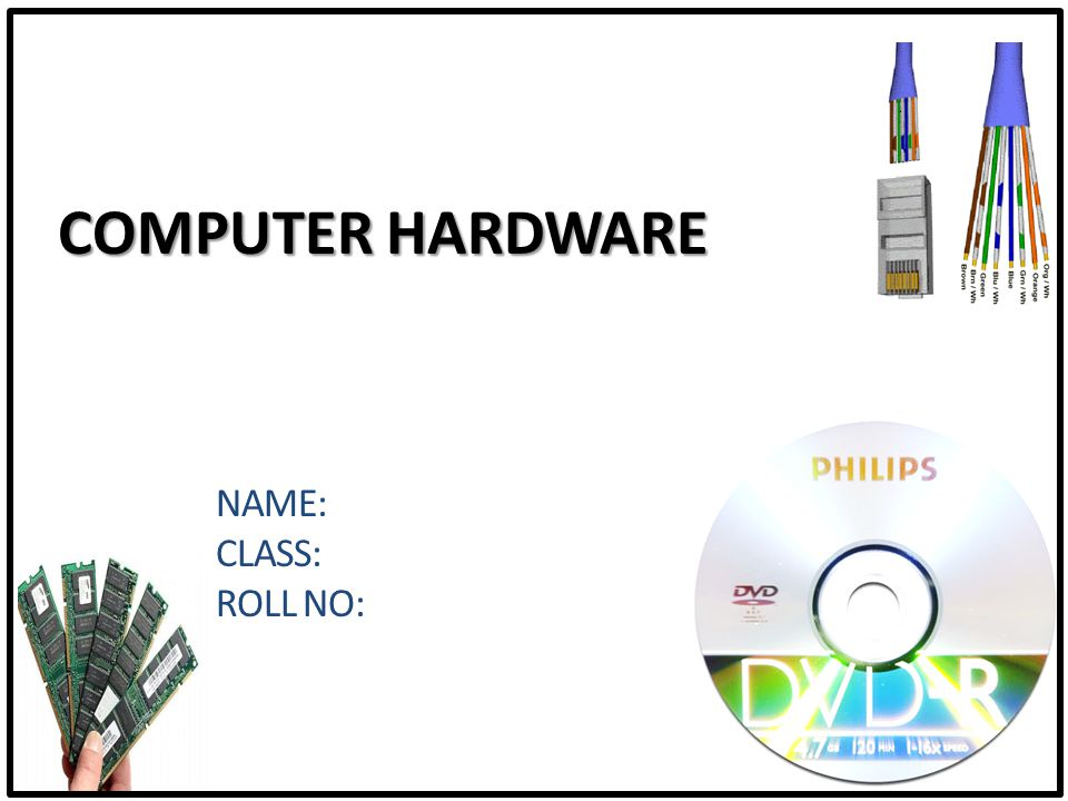 Computer Hardware Overview The Basics Parts of the computer Motherboard Microprocessor Computer Memory (RAM) Hard Disk Drive CD Drives Floppy Drive Video Card Monitor Modem Network Devices Additional Accessories Printers Scanner UPS Speaker