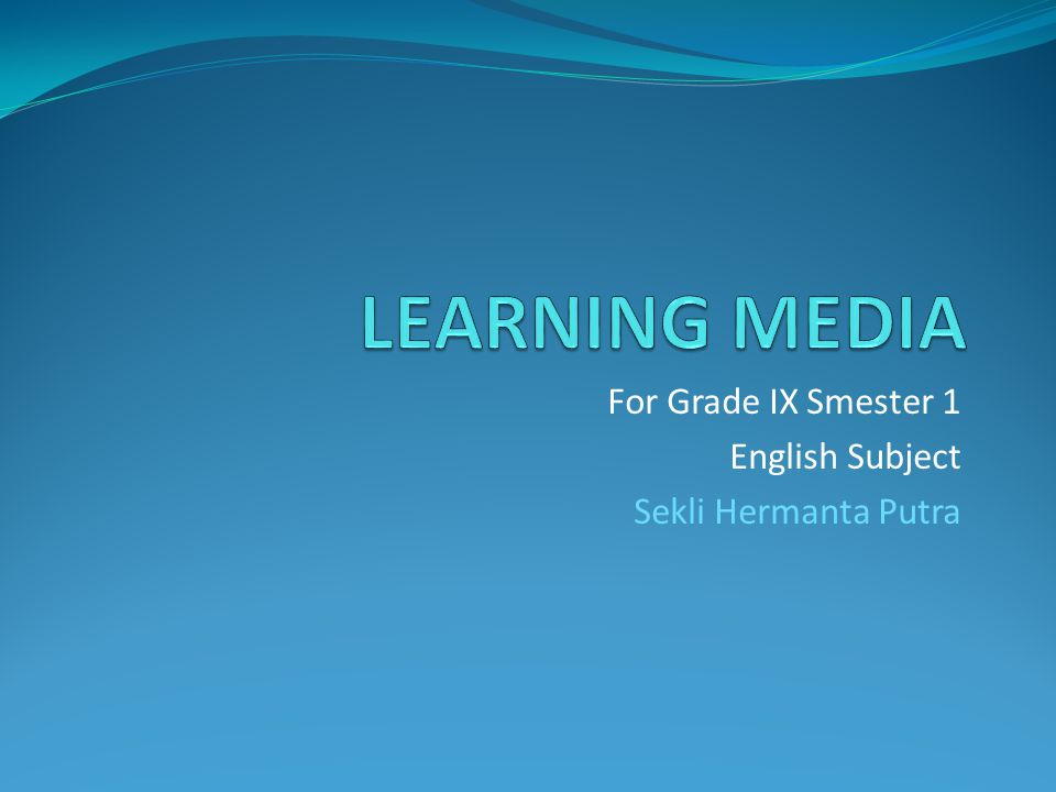 For Grade IX Smester 1 English Subject Sekli Hermanta Putra