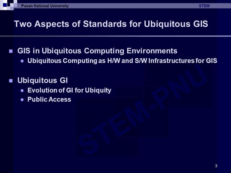 4 Standards for UBGIS in ISO/TC211 Creation of New Working Group Working Group 10: UPA (Ubiquitous Public Access) Goals GIS in Ubiquitous Computing GI for Ubiquity: Ease of Use and Public Access Ease of Use Correct Description Efforts for GI Generation