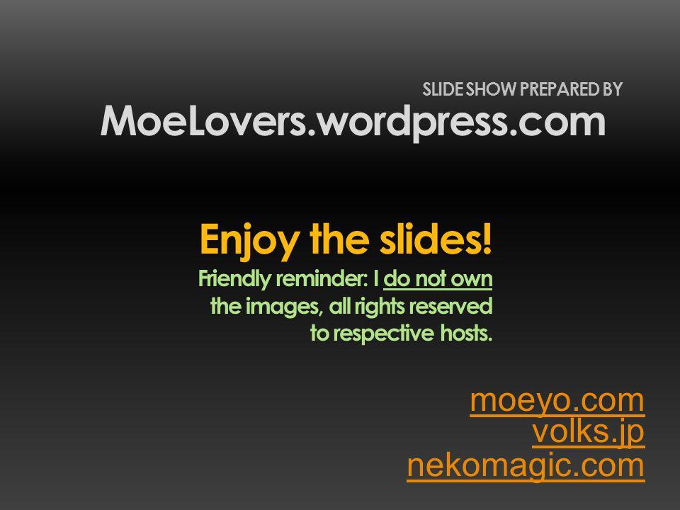 volks.jp MoeLovers.wordpress.com SLIDE SHOW PREPARED BY nekomagic.com Enjoy the slides.