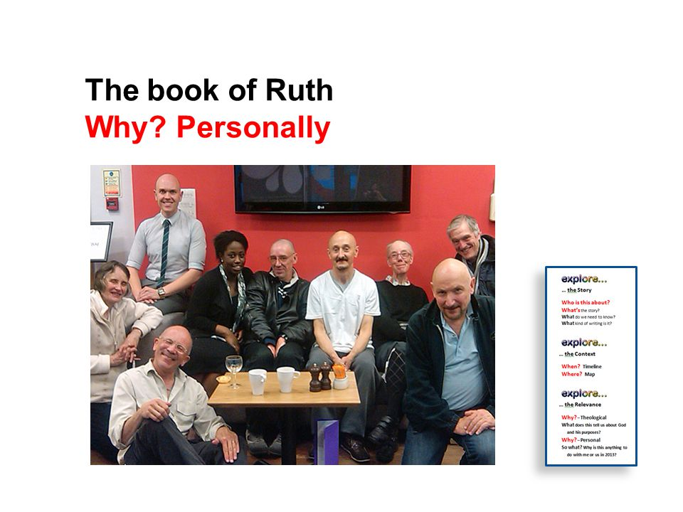 The book of Ruth Why Personally