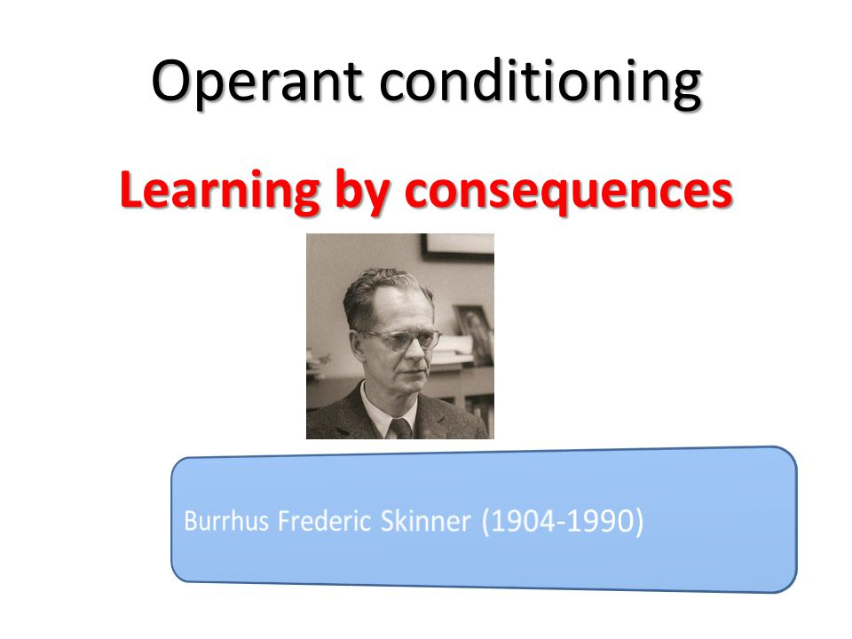 Key Theorists Thorndike (1849-1936) Looked at behaviour in animals – noticed that they learnt from repeated actions Animals and humans learn to repeat actions that produce good effects and avoid actions that have bad outcomes http://www.youtube.com/watch.