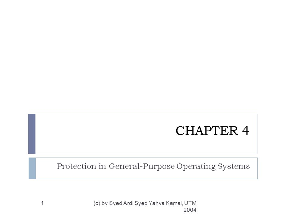 Memory and Address Protection (cont) (c) by Syed Ardi Syed Yahya Kamal, UTM 2004 12  Paging  Alternative to segmentation.