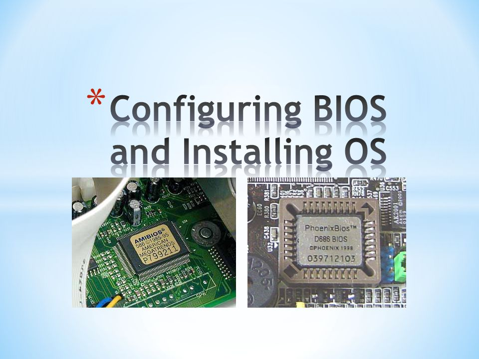 How to configure BIOS: 1.Turn on or restart your computer.