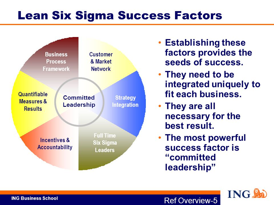 ING Business School Adapted from Six Sigma's Seven Deadly Sins by James P.