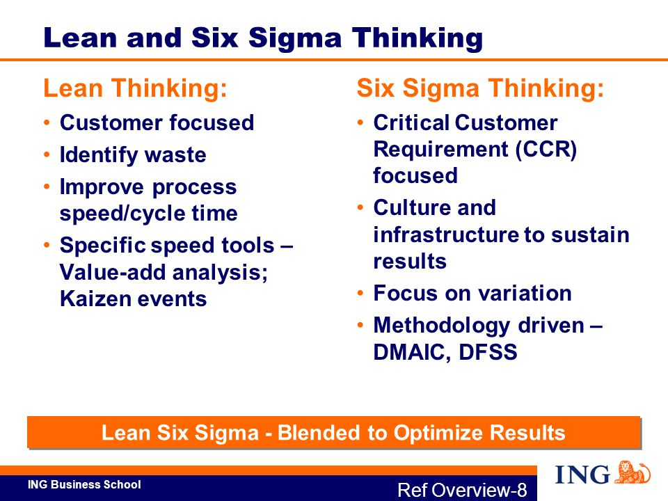 ING Business School Ref Overview-9b What is Lean Six Sigma.