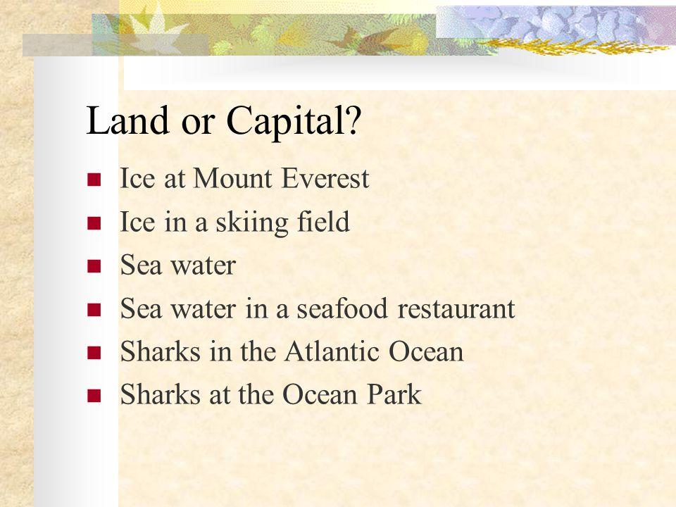Land or Capital.