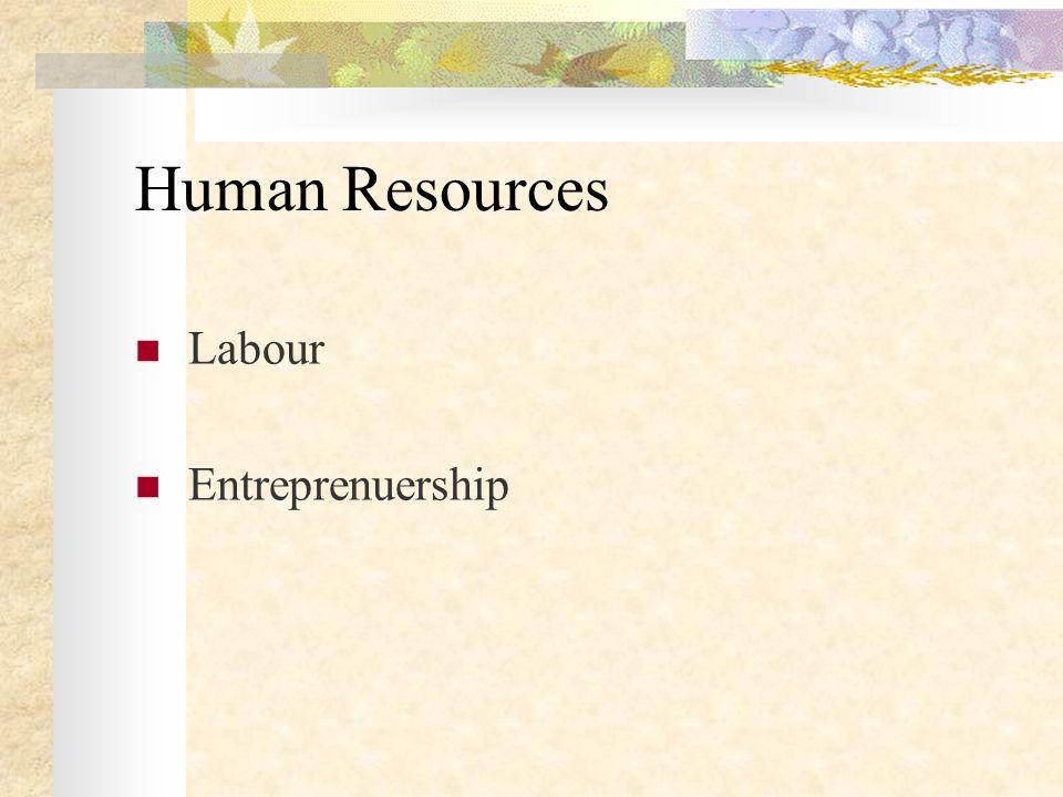 Human Resources Labour Entreprenuership