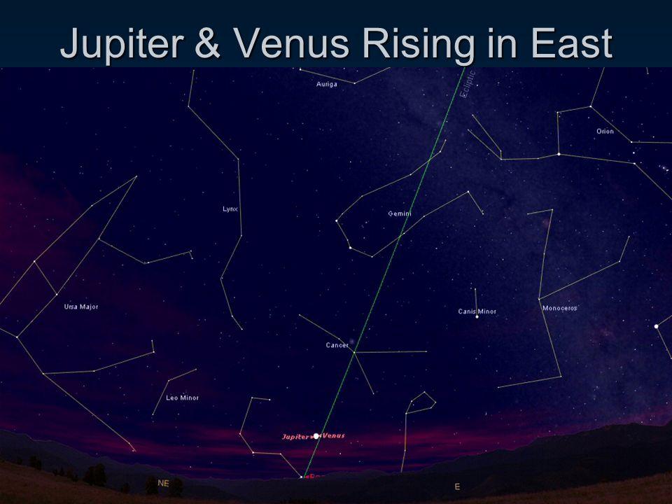 Jupiter & Venus Rising in East