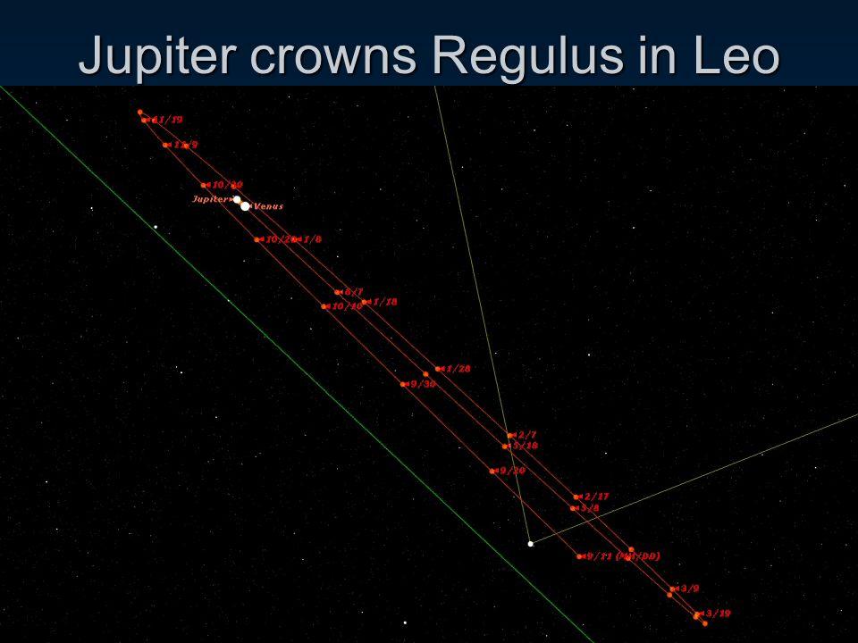 Jupiter crowns Regulus in Leo