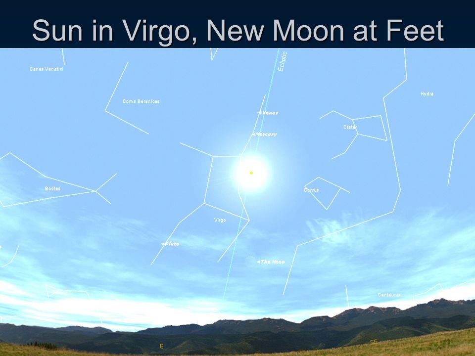 Sun in Virgo, New Moon at Feet