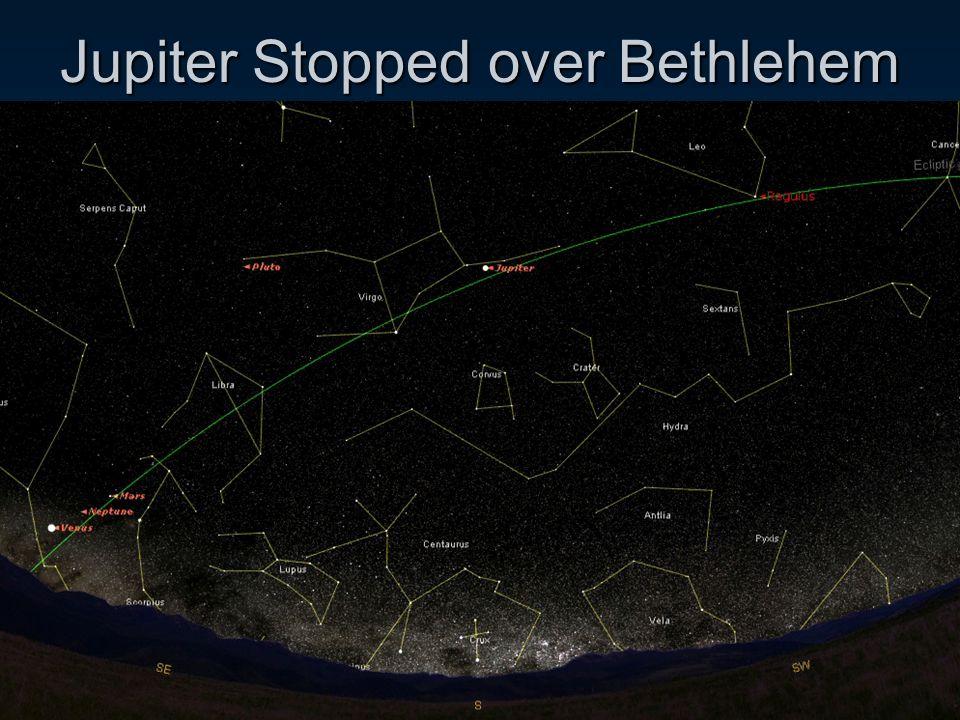 Jupiter Stopped over Bethlehem
