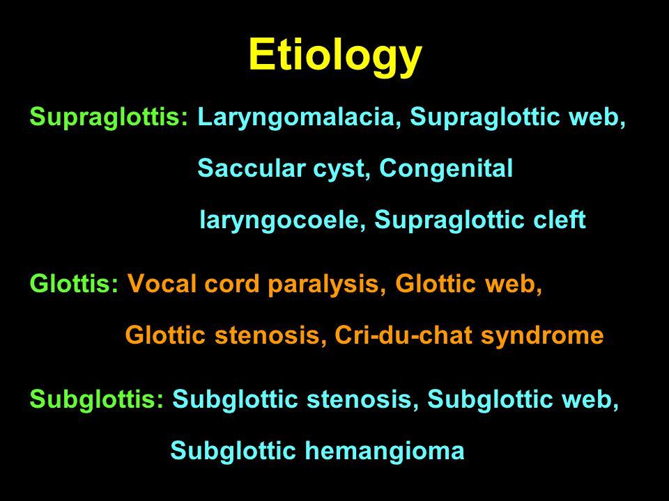 Problem: tubular epiglottis
