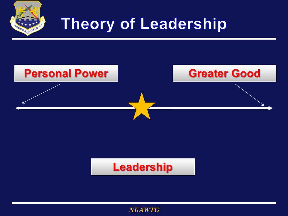 LeadershipLeadership Greater Good Personal Power