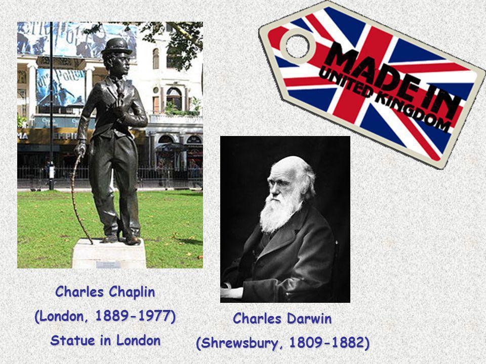 Charles Darwin (Shrewsbury, 1809-1882) Charles Chaplin (London, 1889-1977) Statue in London