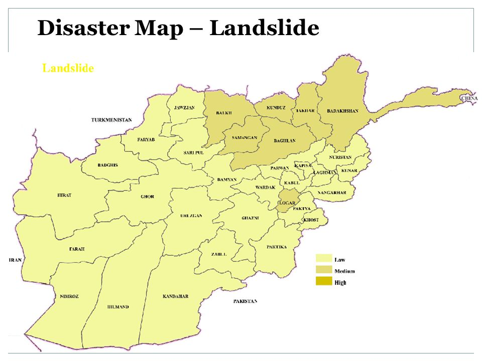 Disaster Map – Landslide