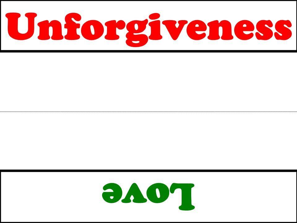 Unforgiveness Love