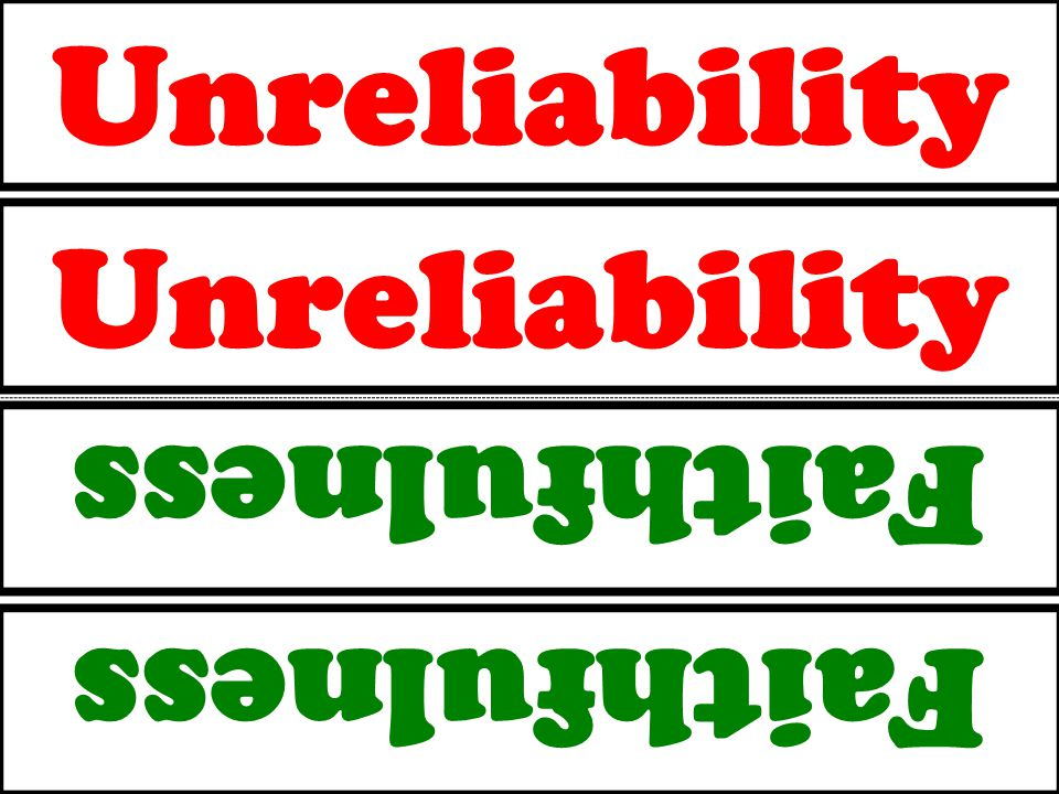 Unreliability Faithfulness Unreliability Faithfulness