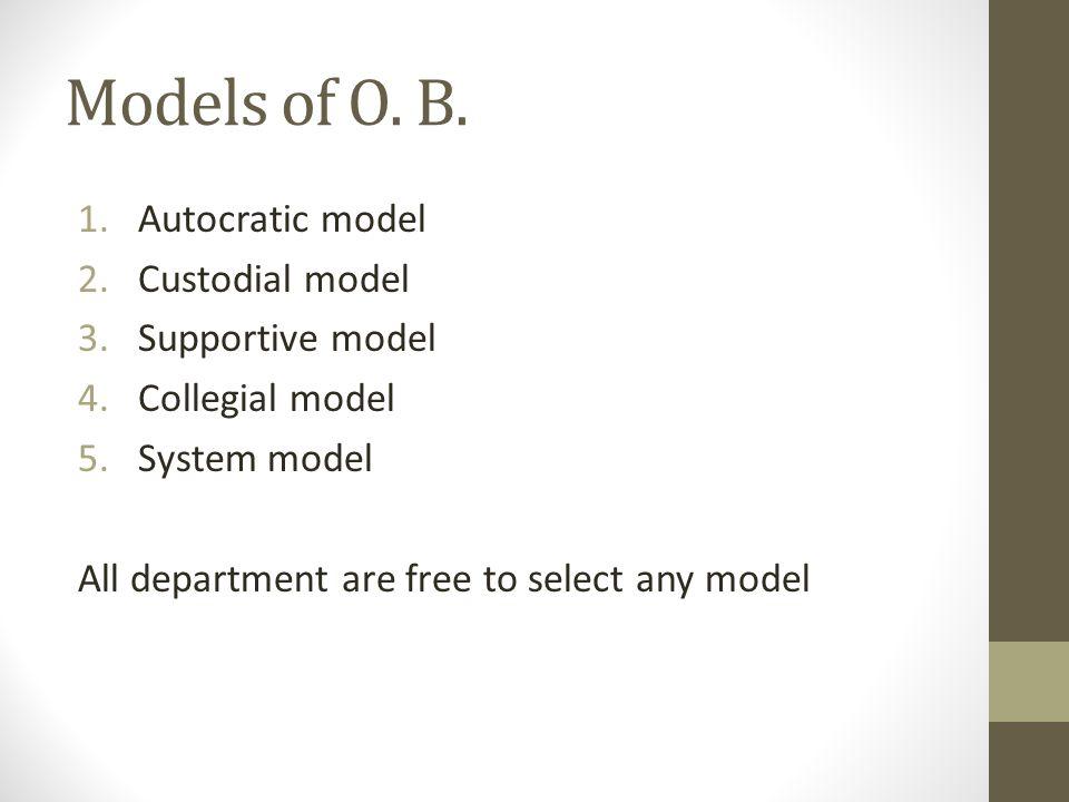 Models of O.B.