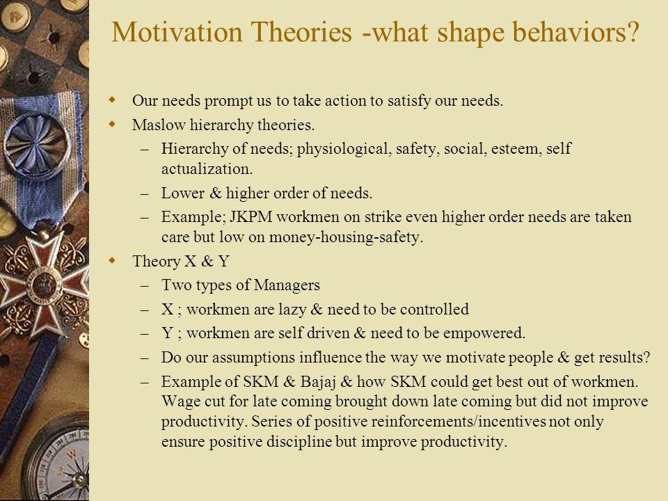 What shape behaviors.  What shape behaviors – so far.