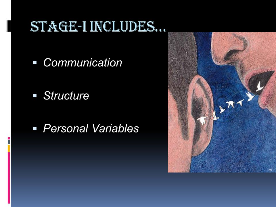 Stage-I Includes…  Communication  Structure  Personal Variables