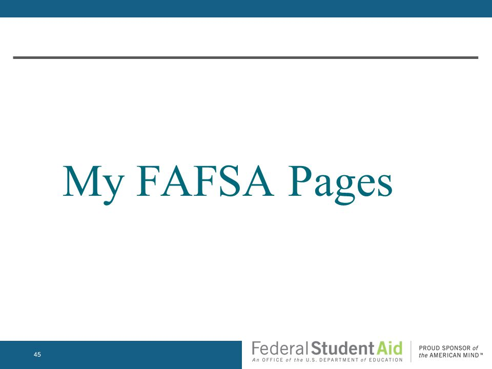 My FAFSA Pages 45