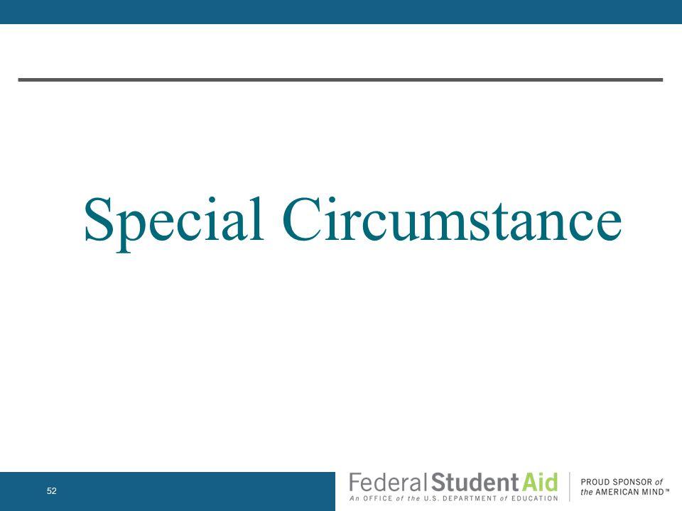 Special Circumstance 52