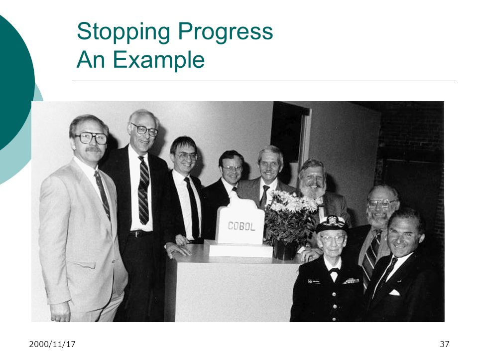 2000/11/1737 Stopping Progress An Example