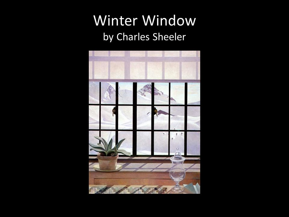 Winter Window by Charles Sheeler