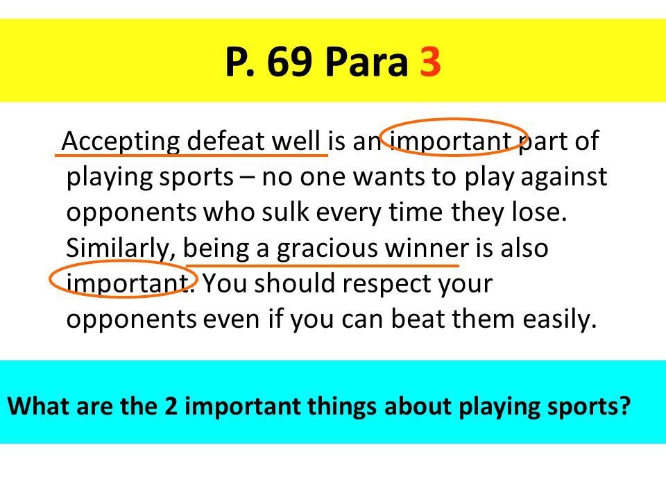 Accepting defeat well is an important part of playing sports – no one wants to play against opponents who sulk every time they lose.