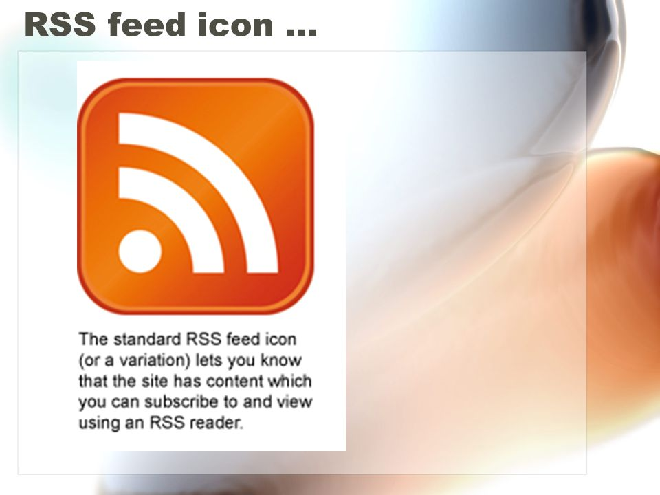 RSS feed icon …