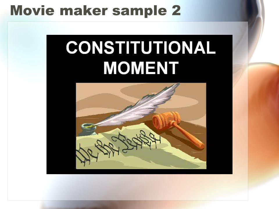 Movie maker sample 2