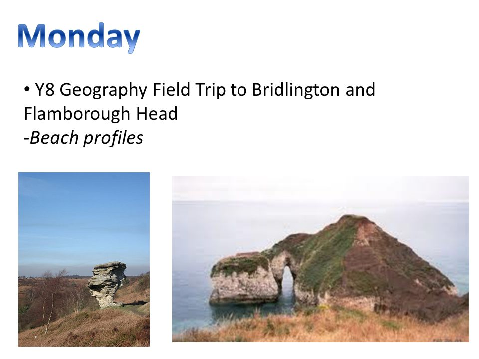 Y8 Geography Field Trip to Bridlington and Flamborough Head -Beach profiles