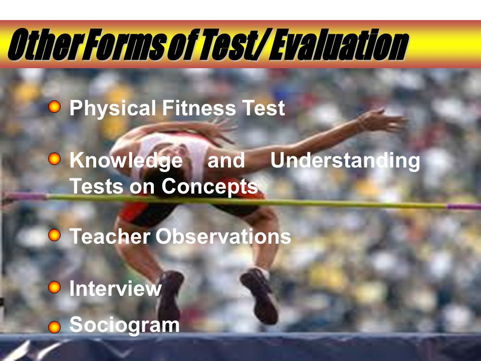 Physical Fitness Test Knowledge and Understanding Tests on Concepts Teacher Observations Interview Sociogram