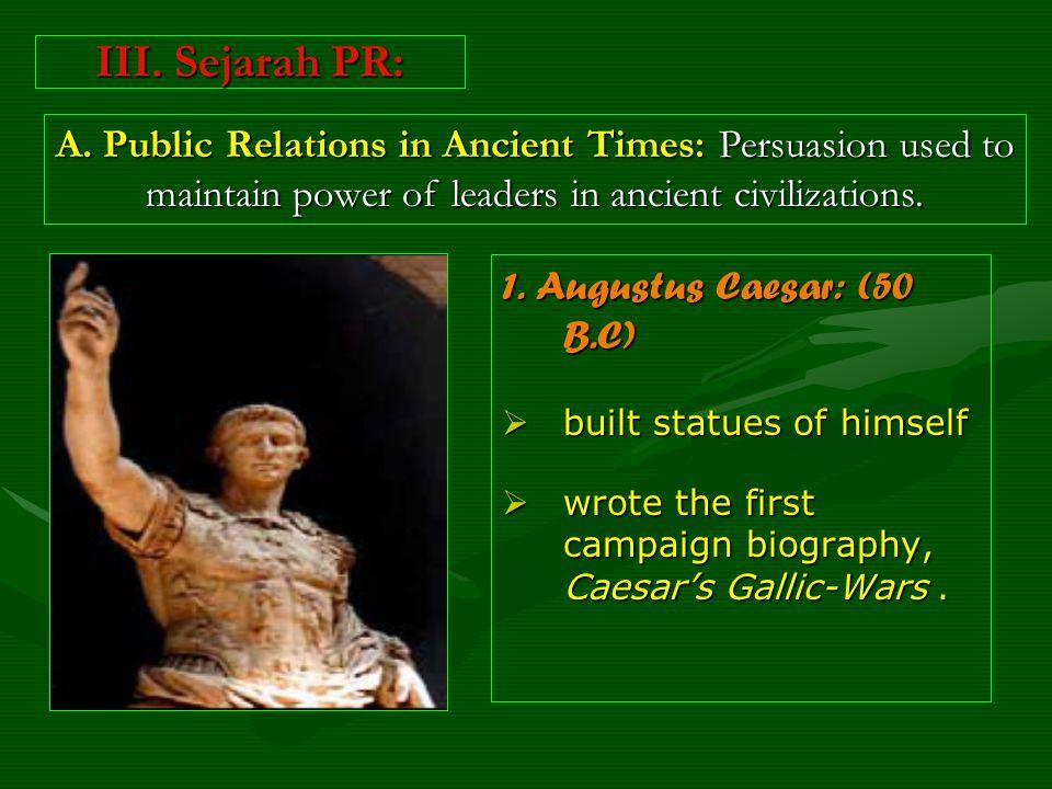 III. Sejarah PR: 1.