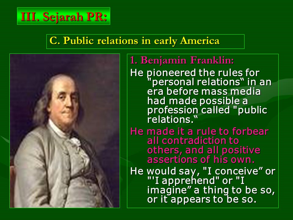 1. Benjamin Franklin: He pioneered the rules for