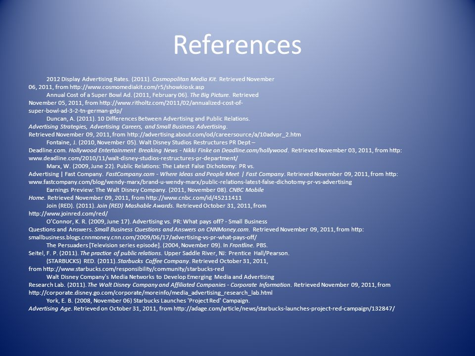 References 2012 Display Advertising Rates. (2011).