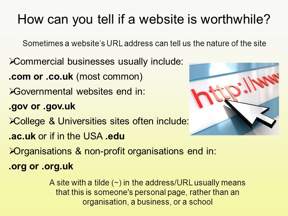 How can you tell if a website is worthwhile.