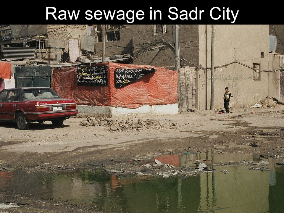 Raw sewage in Sadr City