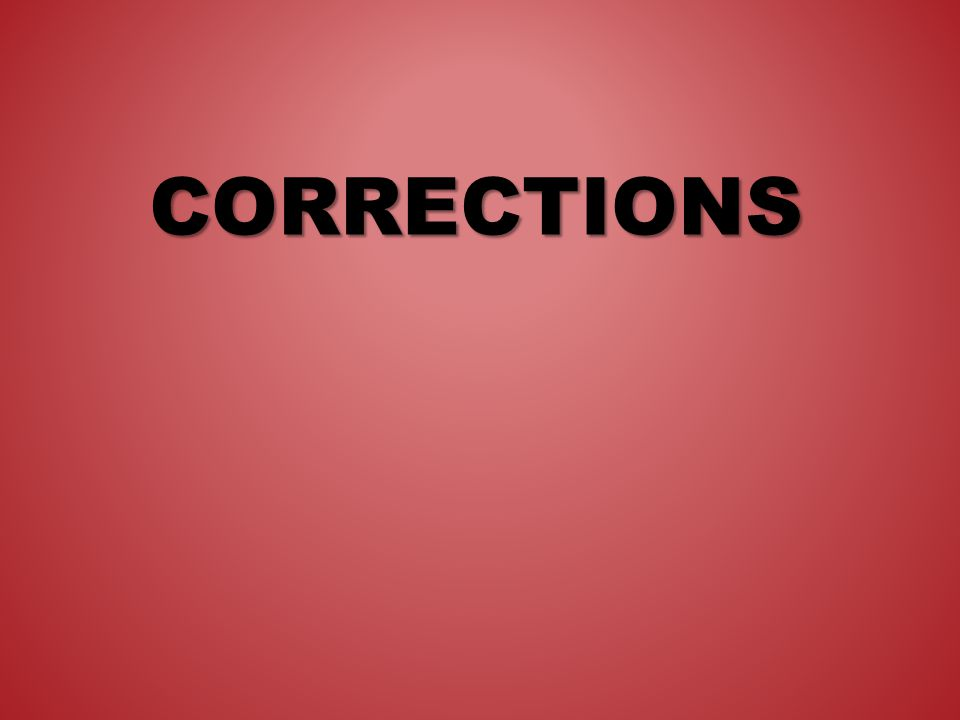CORRECTIONS The third step in the peer editing process is checking your peers paper for: – Spelling mistakes – Grammar mistakes – Missing punctuation – Incomplete or run-on sentences