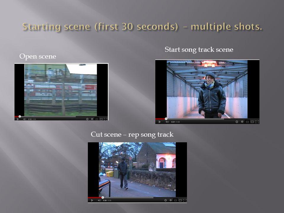 Open scene Start song track scene Cut scene – rep song track