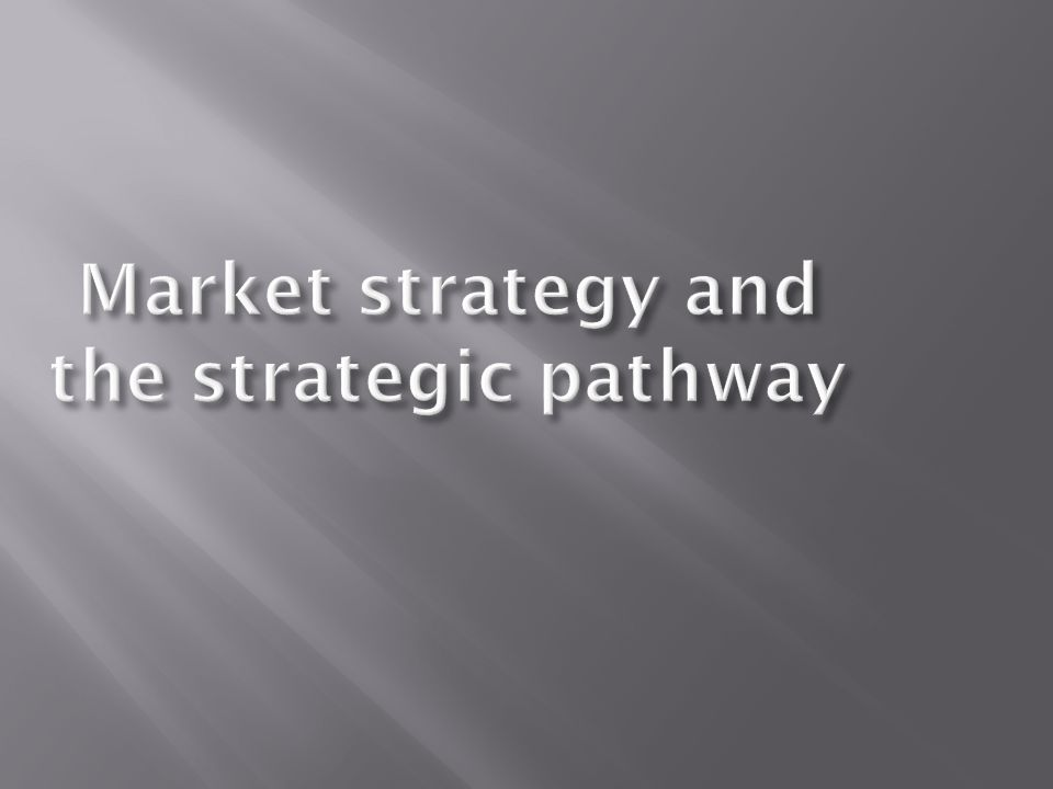  What is strategy anyway.