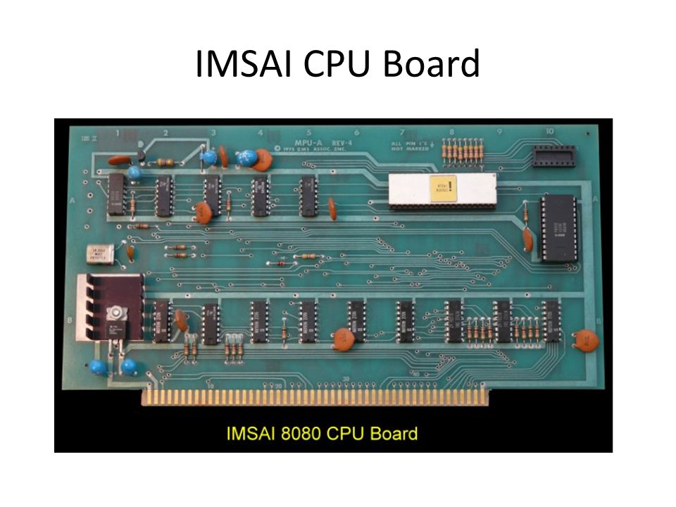 IMSAI CPU Board